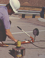 concrete spall repair testing