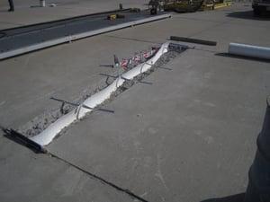 forming a lo mod epoxy mortar repair on navy runway